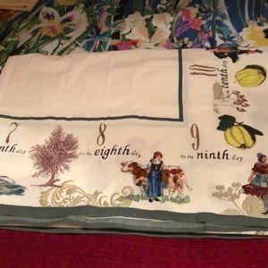 Williams Sonoma Christmas Table.William Sonoma Xmas Table Cloth